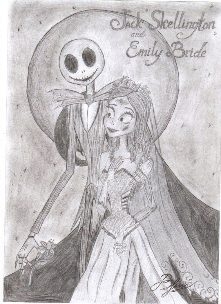 Jack Skellington and Emily - Google Search | Cross Overs/Mature ...