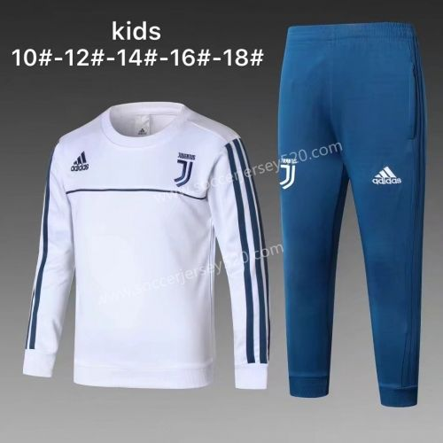 d4011ce67d1 2017-18 Juventus White LS Kids Youth Soccer Tracksuit