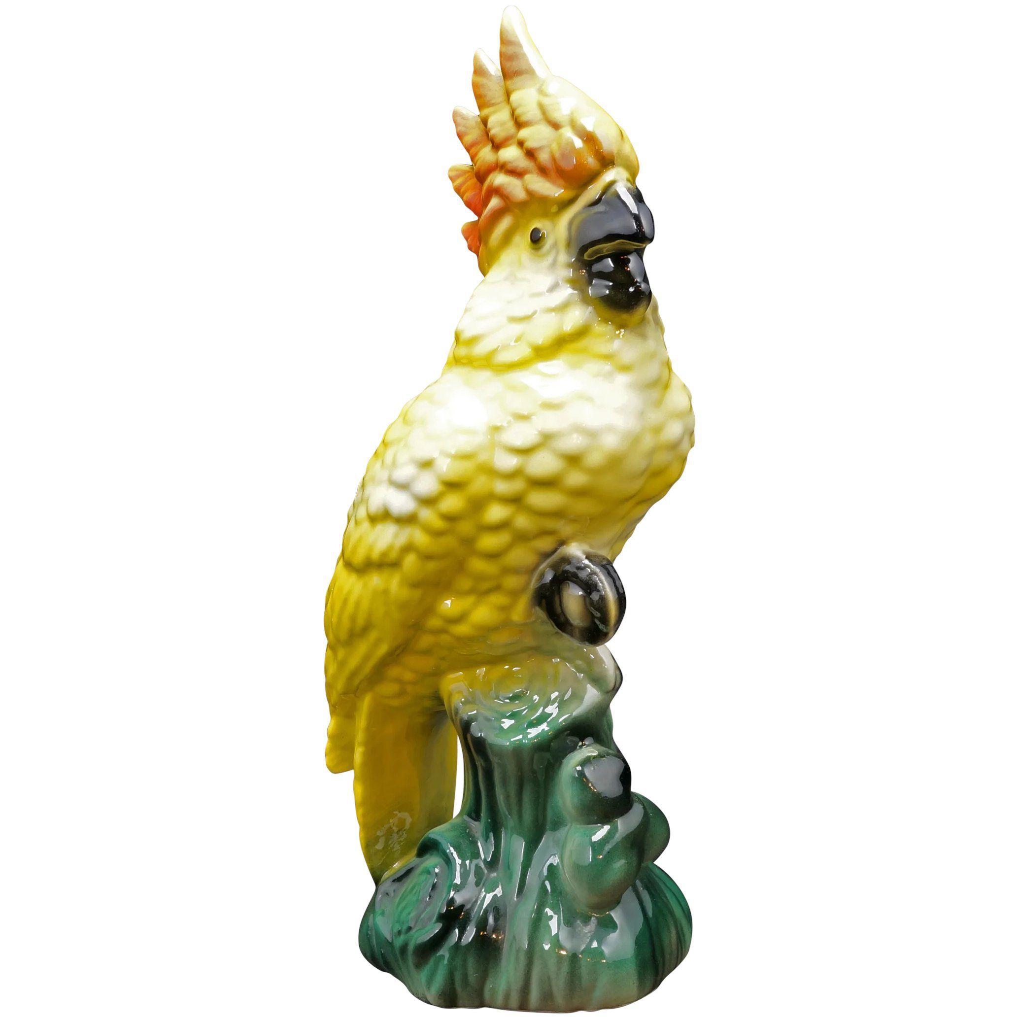 Midcentury Ceramic Yellow Cockatoo On Stump Circa 1950 In 2020 Cockatoo Pottery Animals Ceramics