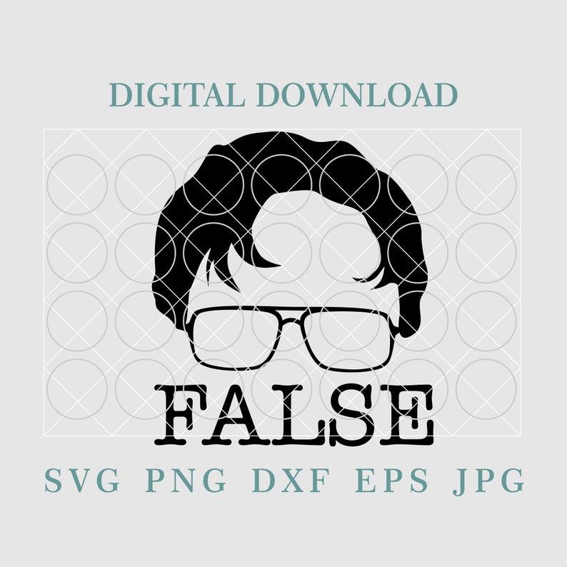 Dwight Schrute False Svgfalse Svgglasses Svgthe Office Etsy Dwight Schrute False Dwight Schrute Dwight