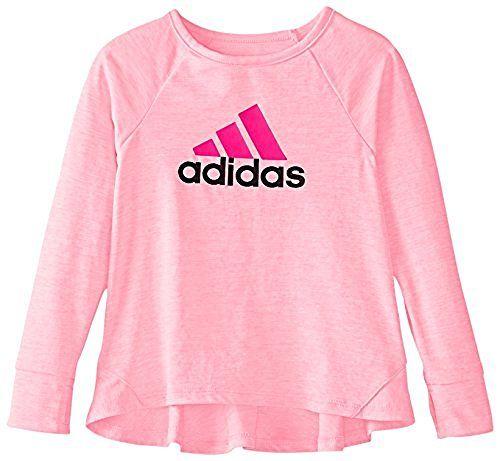 adidas Girls Long Sleeve Girly Tee Shirt