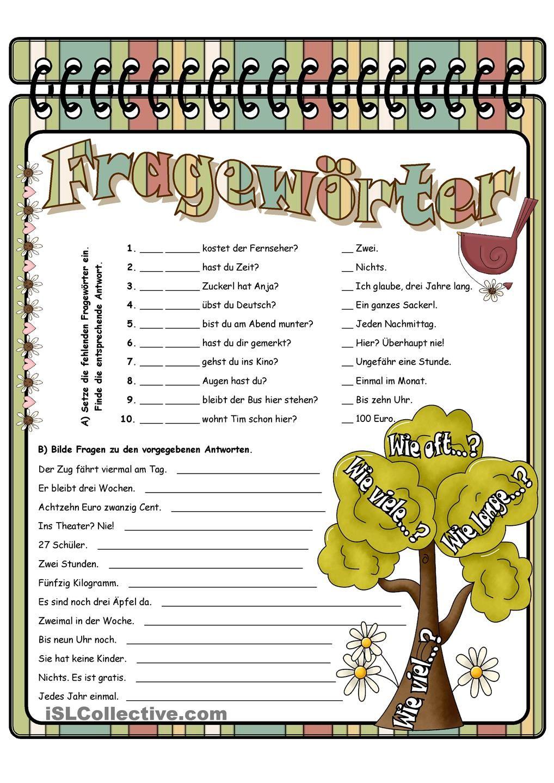 Fragewörter   proyecto alemán   Pinterest   German, Deutsch and ...
