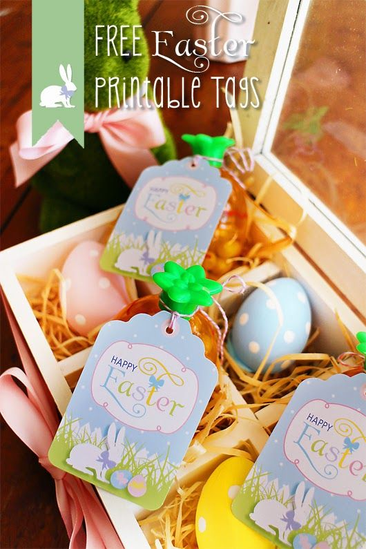 Printable easter tags gift ideas pinterest free printable free printable easter tags perfect for easter favors gifts and decorating by sweet scarlet designs negle Image collections