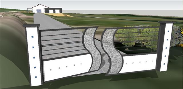 portail fer design créé par als 47, portail moderne, contemporain ...