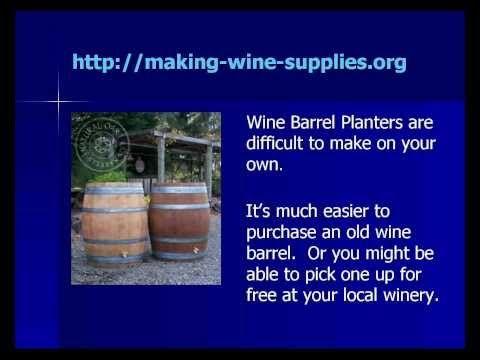 Making Wine Barrel Planters
