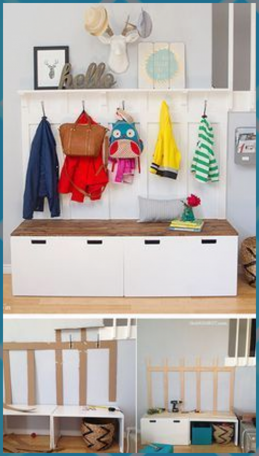 Ikea Holzmöbel Ikea Hack: Diy Mudroom Benches, # Benches #diy #hack #ikea ...