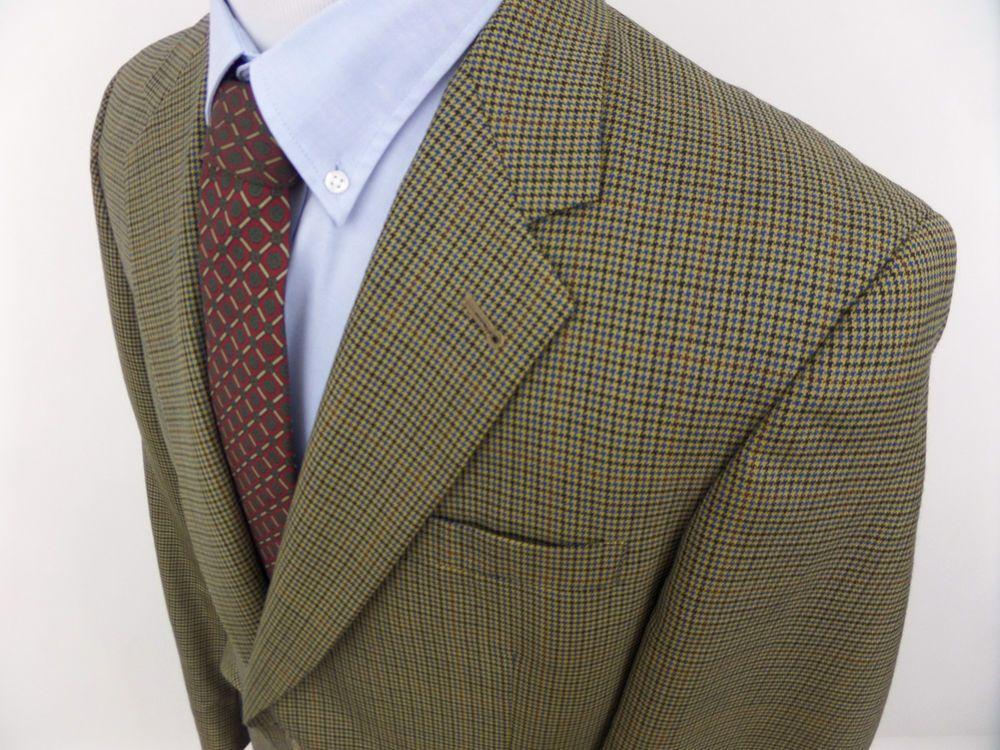 Austin Reed Men's Plaid Wool Sportcoat Jackt Blazer 43 L USA  #AustinReed #TwoButton