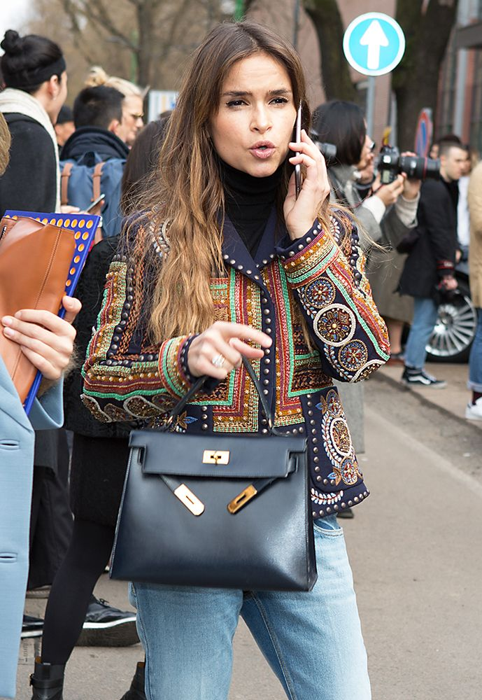 27 Celebs and the Bags They Carried to Milan Fashion Week Fall 2016 ... bd7cc9630ed64