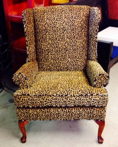 Set W Ottoman Queen Anne Ethan Allen Designer Wing Back Chair
