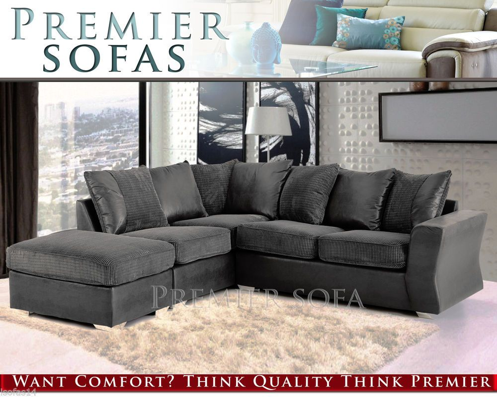 Outstanding Details About Brand New Arran Jumbo Cord Corner Sofa 3 2 Pabps2019 Chair Design Images Pabps2019Com