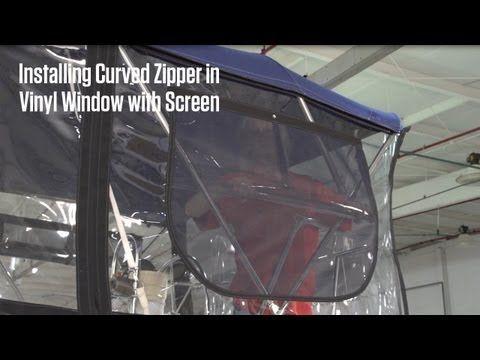 Installing Curved Zipper in Vinyl Window with Screen Video