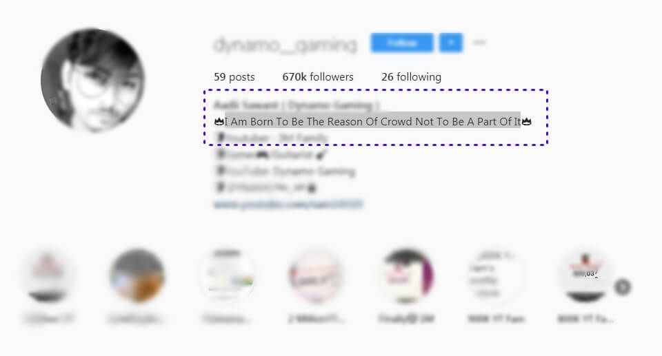 Dynamo Gaming Instagram Profile Bio Bio Quotes Instagram Bio Quotes Be Yourself Quotes