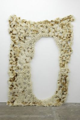 """GASP. Flokati rugs """"destroyed"""" until resembling natural sponges. By Anna Betbeze."""