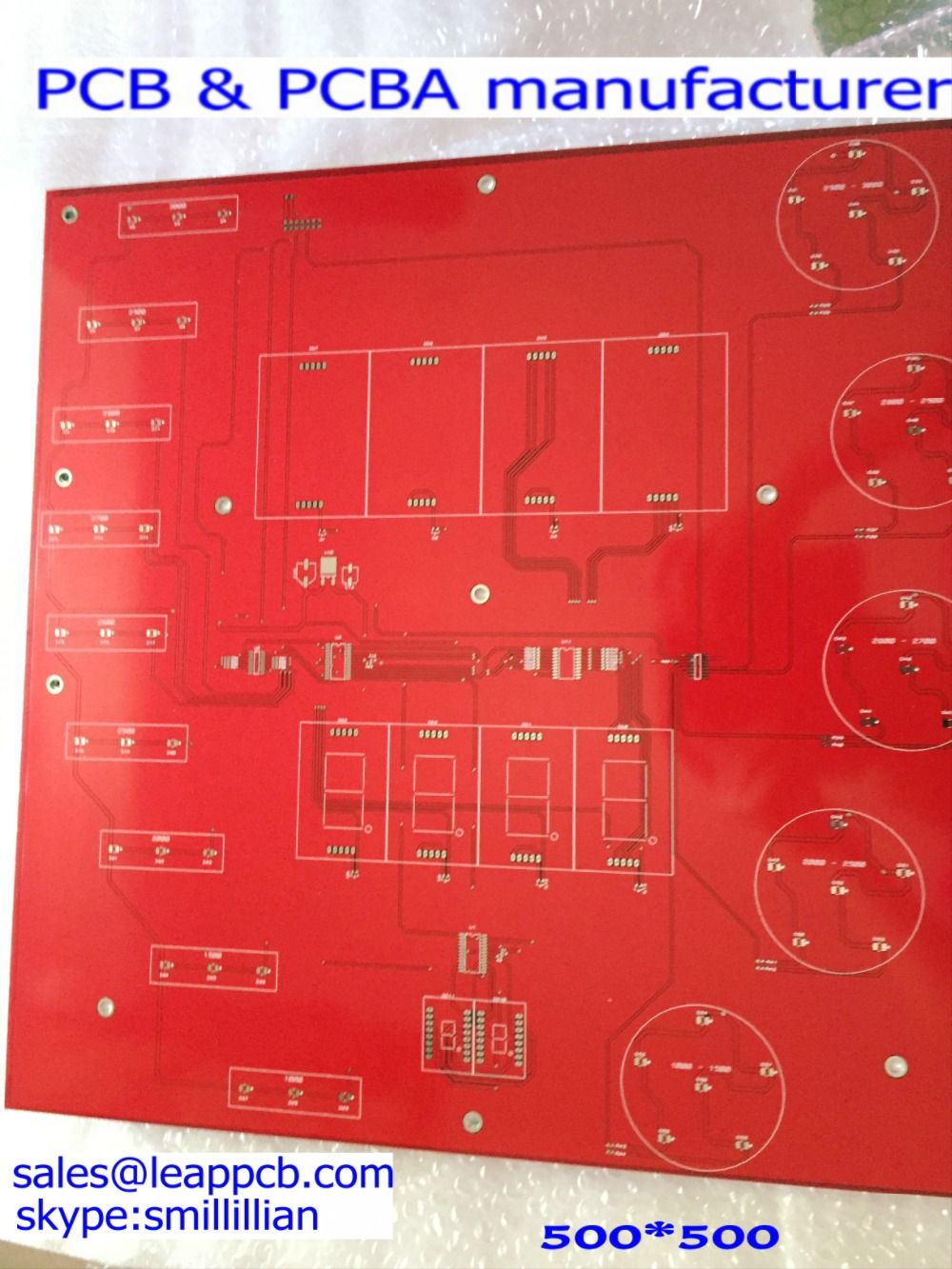 Find More Multilayer Pcb Information About Red Pcbenig Surface Circuit Board Maker2 Layers Makercircuit Maker Treatment Prototype2