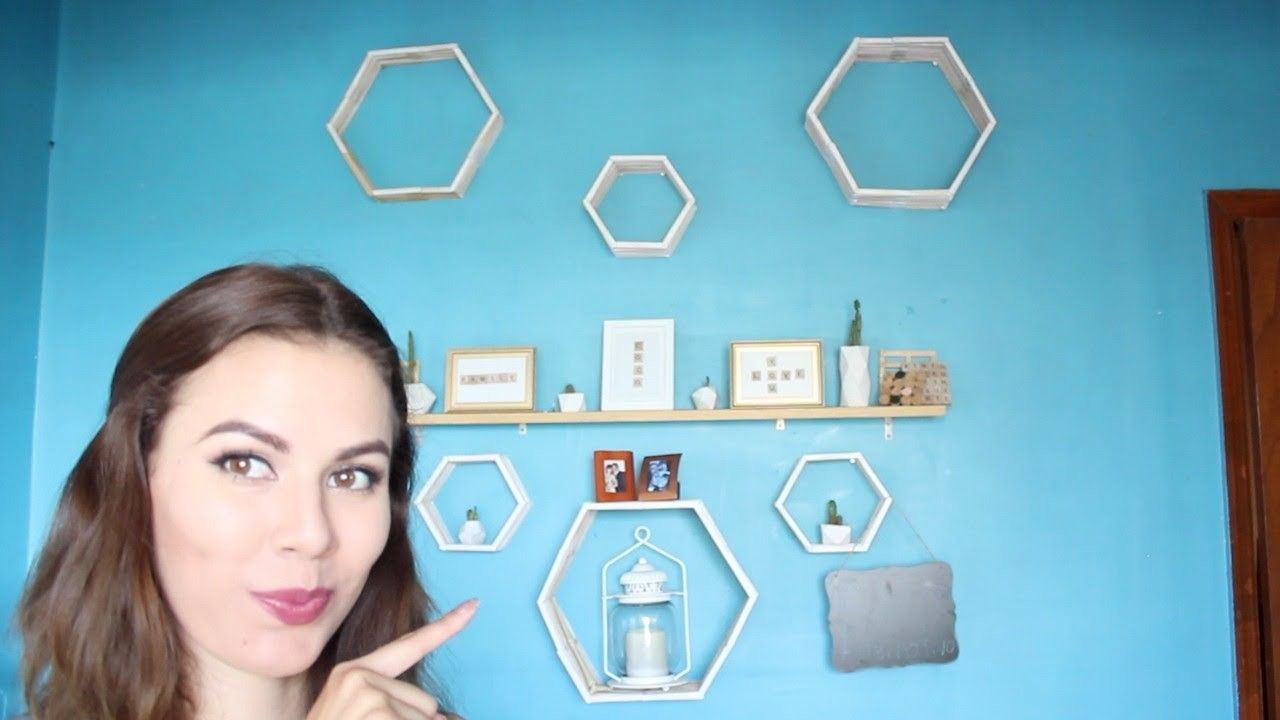 DIY Repisa flotante Hexagonal - Coco Alternativo