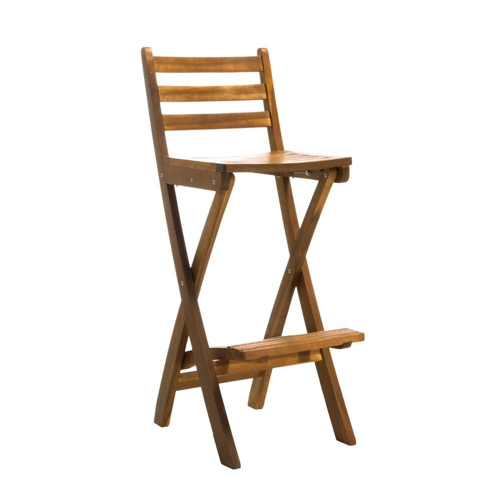 Astonishing Noble House Deborah Foldable Wood Outdoor Bar Stool In 2019 Spiritservingveterans Wood Chair Design Ideas Spiritservingveteransorg