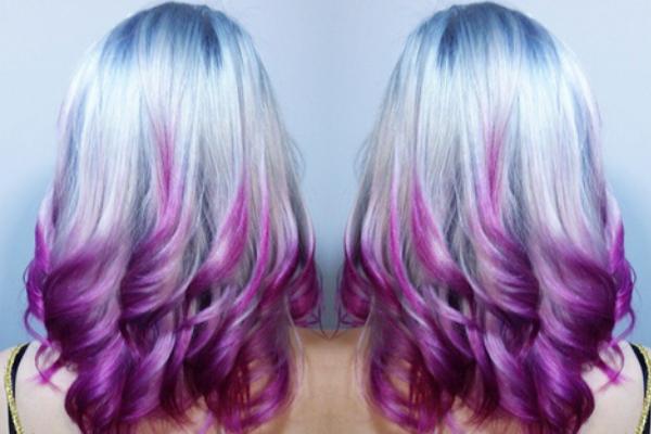 30 Beautiful Blue Hairstyles For Women Lila Frisuren Lila Haare