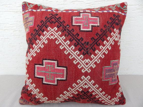 5  DAYS DELIVERY/ Bohemian Home Decor,Embroidered Turkish Kilim Pillow Cover 20''x20'',50x50 cm Decorative Throw Pillows,Large Body Pillows.