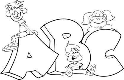 Letras Do Alfabeto Para Colorir Para Aprender Brincando Alfabeto