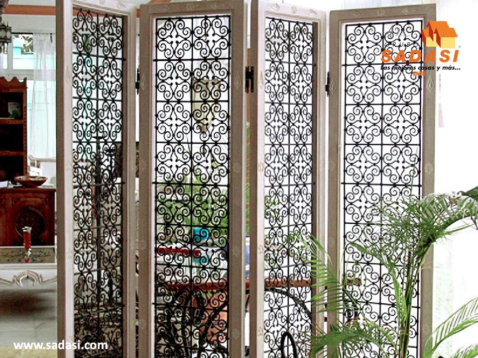 Decoracion las mejores casas de m xico las mamparas con for Puertas decorativas para interiores