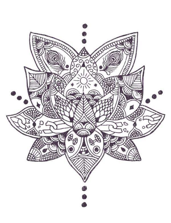 Mandalas Con Flor De Loto Significado Y Disenos Para Descargar Mandalas Tattoos Lotus Tattoo Henna Tattoo