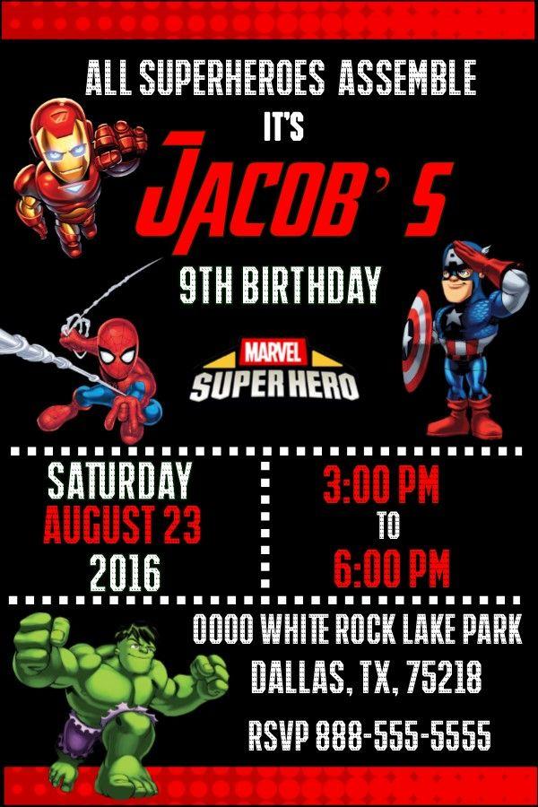 An Animated Avengers Inspired Birthday Invitation - Invitacion de ...