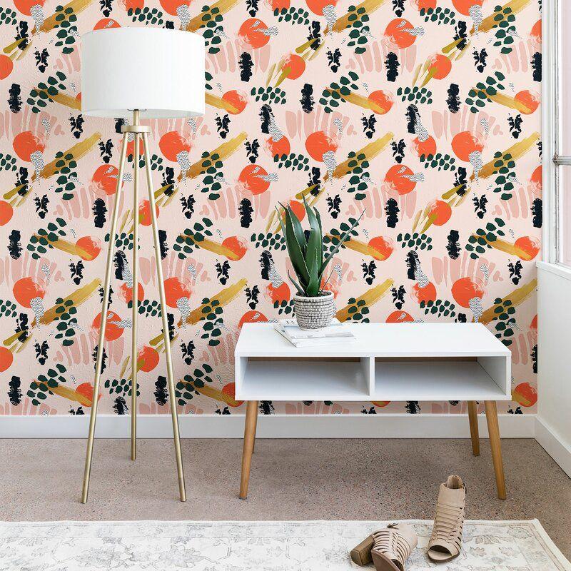 Allmodern Marta Barragan Camarasa Brushstrokes Ii Peel And Stick Wallpaper Panel Reviews Wa In 2021 Wallpaper Panels Peel And Stick Wallpaper Wallpaper Accent Wall