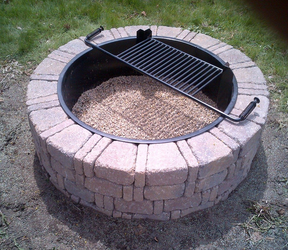 Steel Insert For Ring Fire Pit Fireplace Design Ideas Homemade