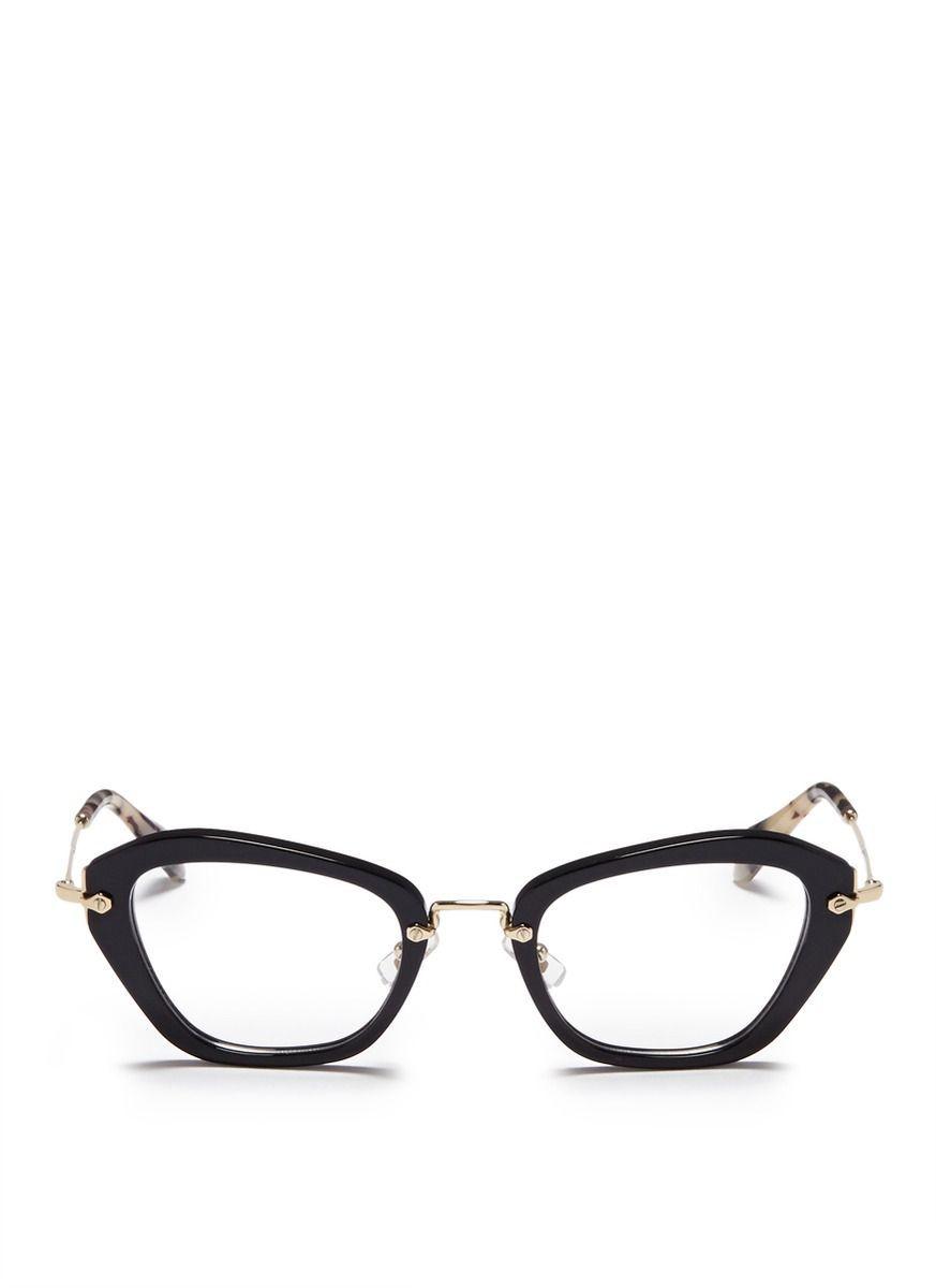 ffd7a926a829 MIU MIU -  Noir  tortoiseshell tip optical glasses