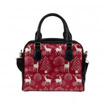 4de7a3df3da6 InterestPrint Red Christmas Tree Deer Women's PU Leather Purse ...