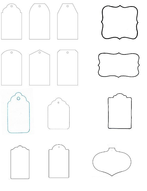Printable Blank Gift Tags Template  Dekorace    Label