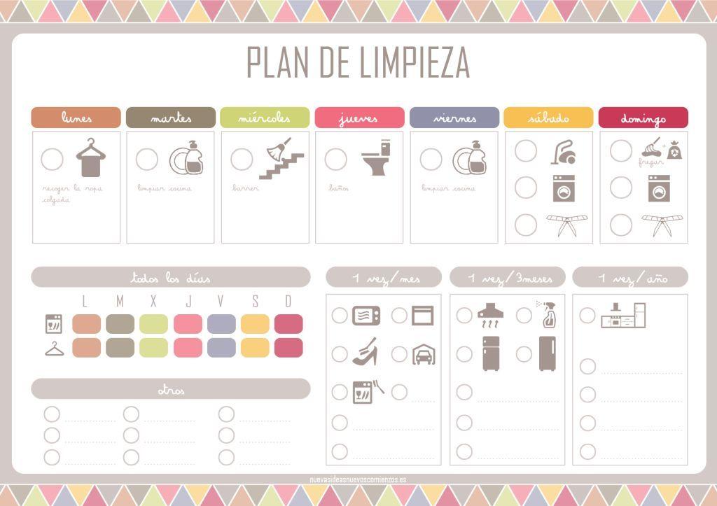 Photo of Organizar Imprimible libre de las tareas de la casa. Plan De Limpieza