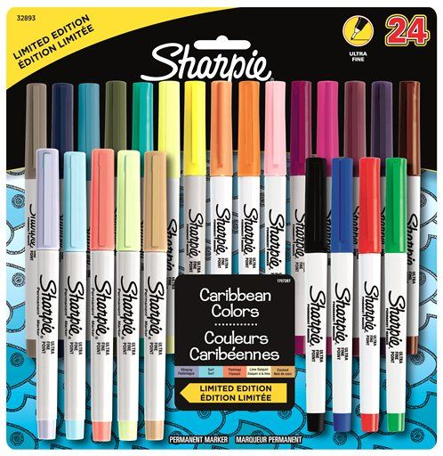 Sharpie Electro Pop Permanent Markers, Ultra Fine, Assorted Colors, Limited  Edition, 24 Count - Walmart.com
