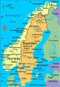 Sweden Norway Map Sweden Travel Norway Sweden Finland