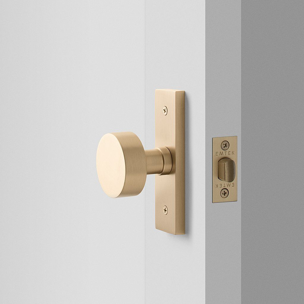 Photo of Rome Small Door Set with Cylinder Knob – Satin Brass