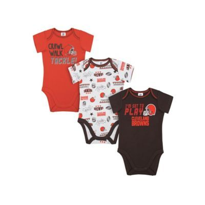 63664133 NFL Cleveland Browns Size 6-12M 3-Pack Bodysuits Multi in 2019 ...