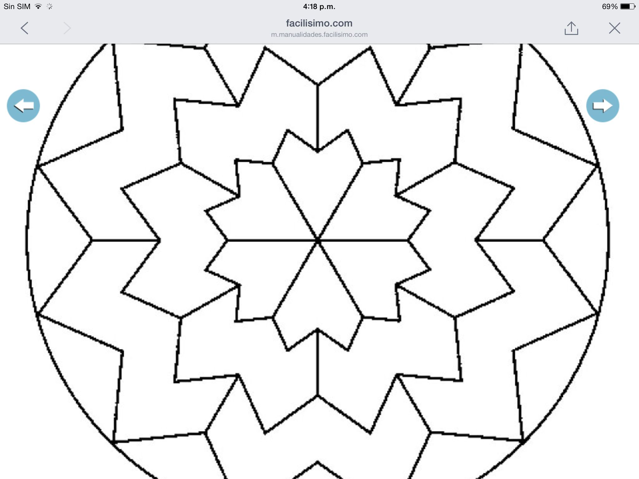 Dibujo De Mandala 11 Para Pintar Y Colorear En Línea: Mandalas Para Colorear, Colores Y Pintar