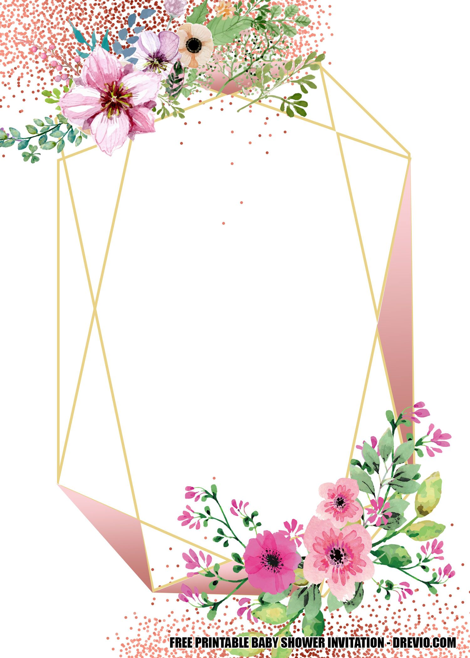 Free Floral Baby Shower Invitation Templates Floral Baby Shower Invitations Baby Shower Invitation Templates Floral Invitations Template