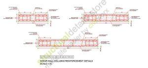 Shear Wall Reinforced Concrete Column Reinforcement Details Concrete Column Reinforced Concrete Reinforcement