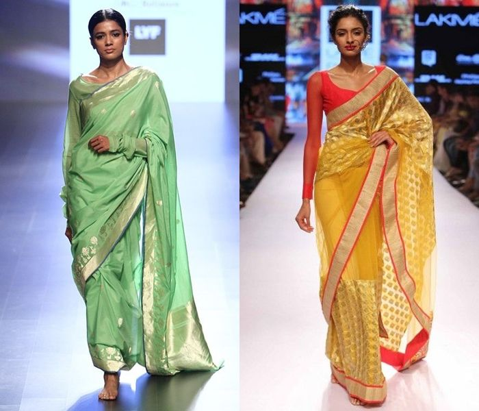 deb43af3544e84 11 Pretty Full Sleeve Blouse Designs for Silk Sarees