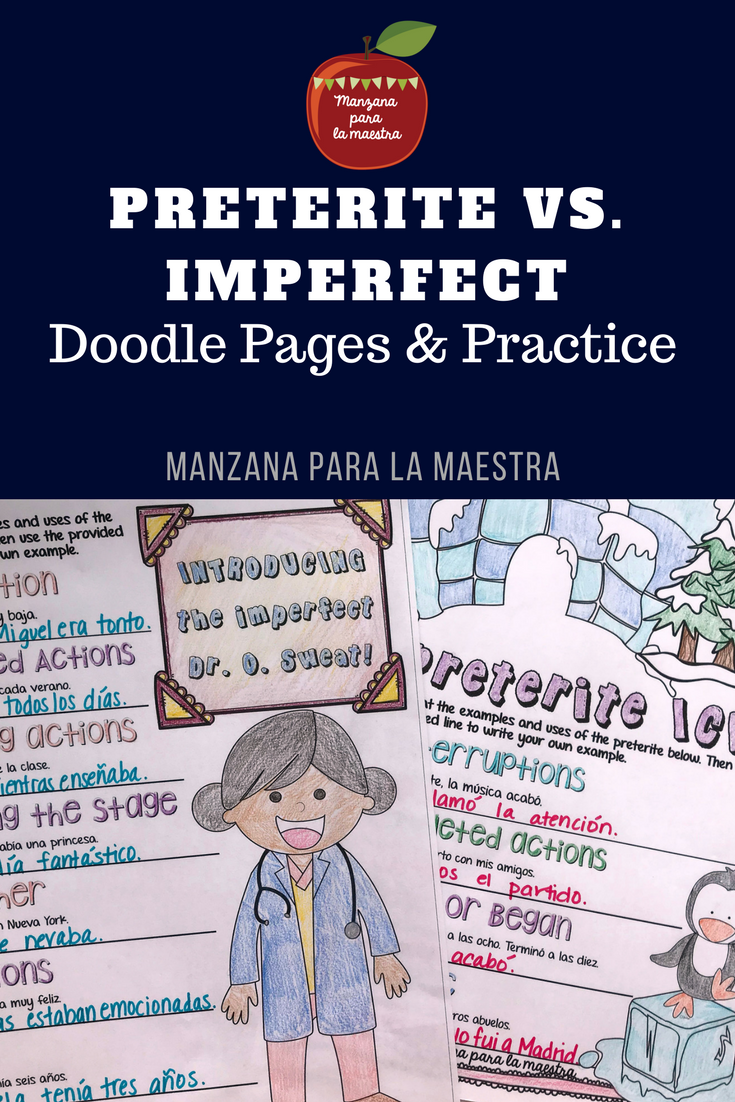 Preterite Vs Imperfect Notes And Worksheet Activities Preterite Doodle Pages Doodle Notes [ 1102 x 735 Pixel ]