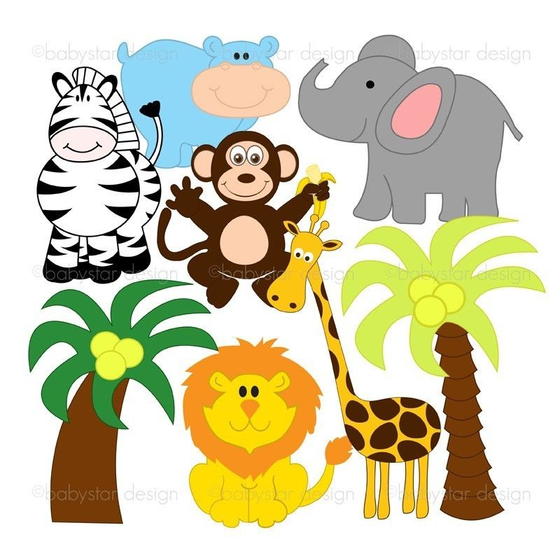 jungle animals clip art free clipart images and clipart images rh pinterest com au jungle animals clipart background baby jungle animals clipart free