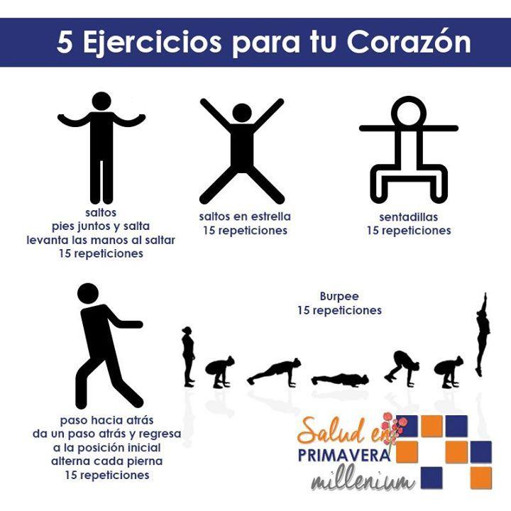 Cinco ejercicios para tu corazón #recuérdalos
