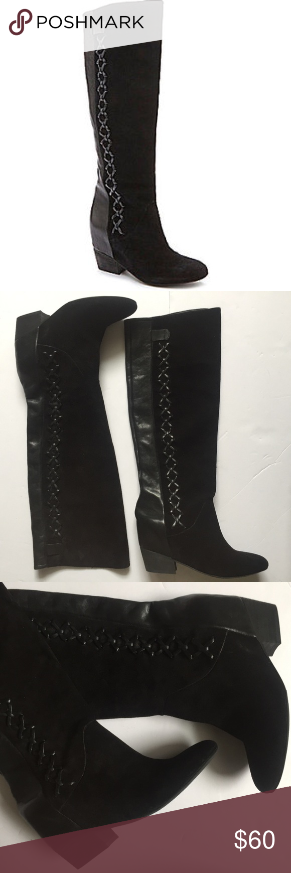 3bb7c571237 Gianni Bini suede and leather boots size 7 1/2 Gianni Bini suede and leather  boots size 7 1/2 good condition never worn! Gianni Bini Shoes Over the Knee  ...