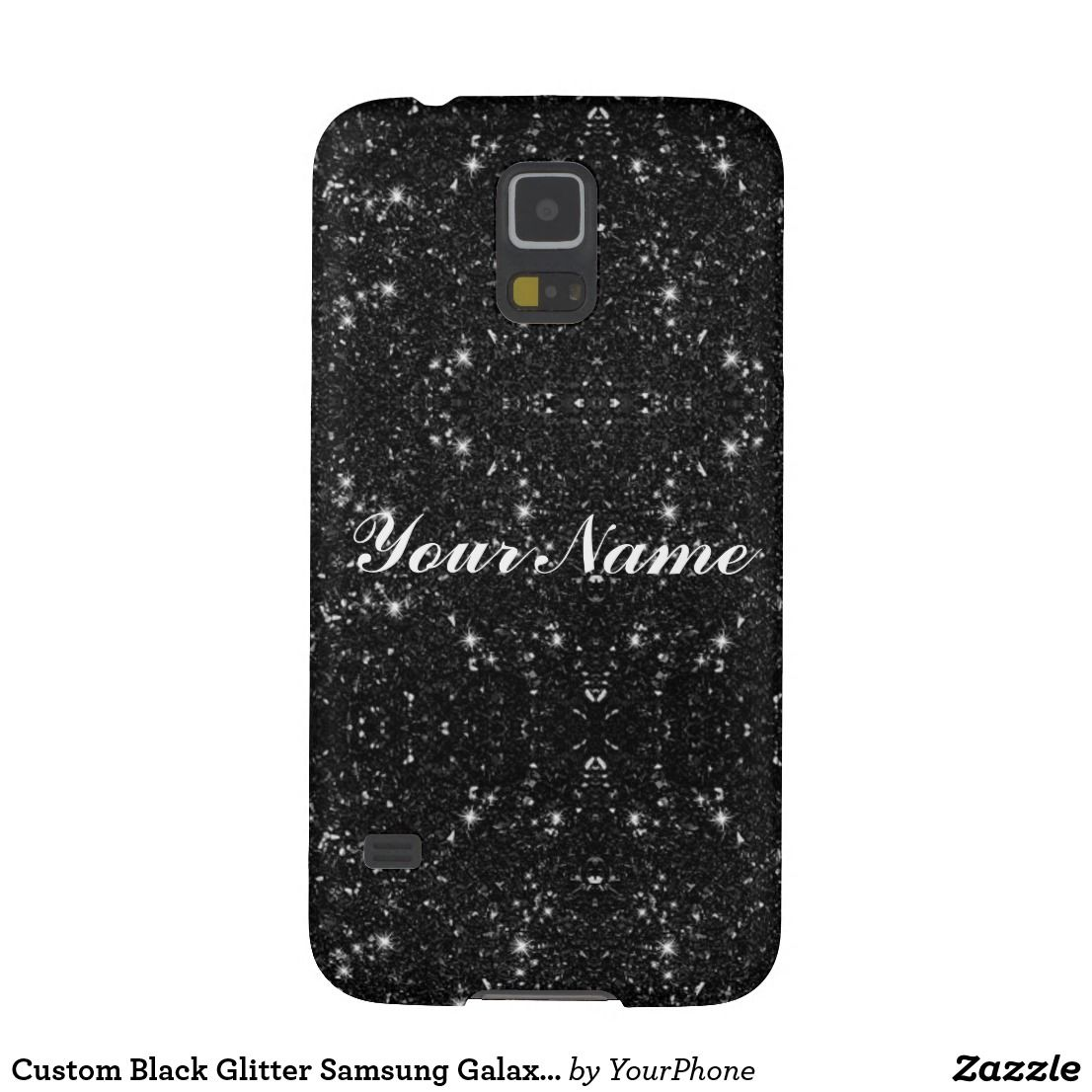 custom black glitter samsung galaxy s5 case fun pinterest
