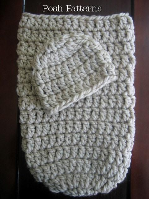 Newborn Cocoon and Hat Crochet Pattern | Pinterest