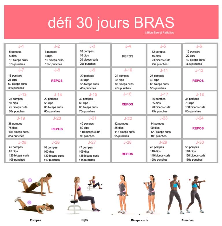 Defi bras musculation femme pinterest exercices for Exercice de musculation chez soi
