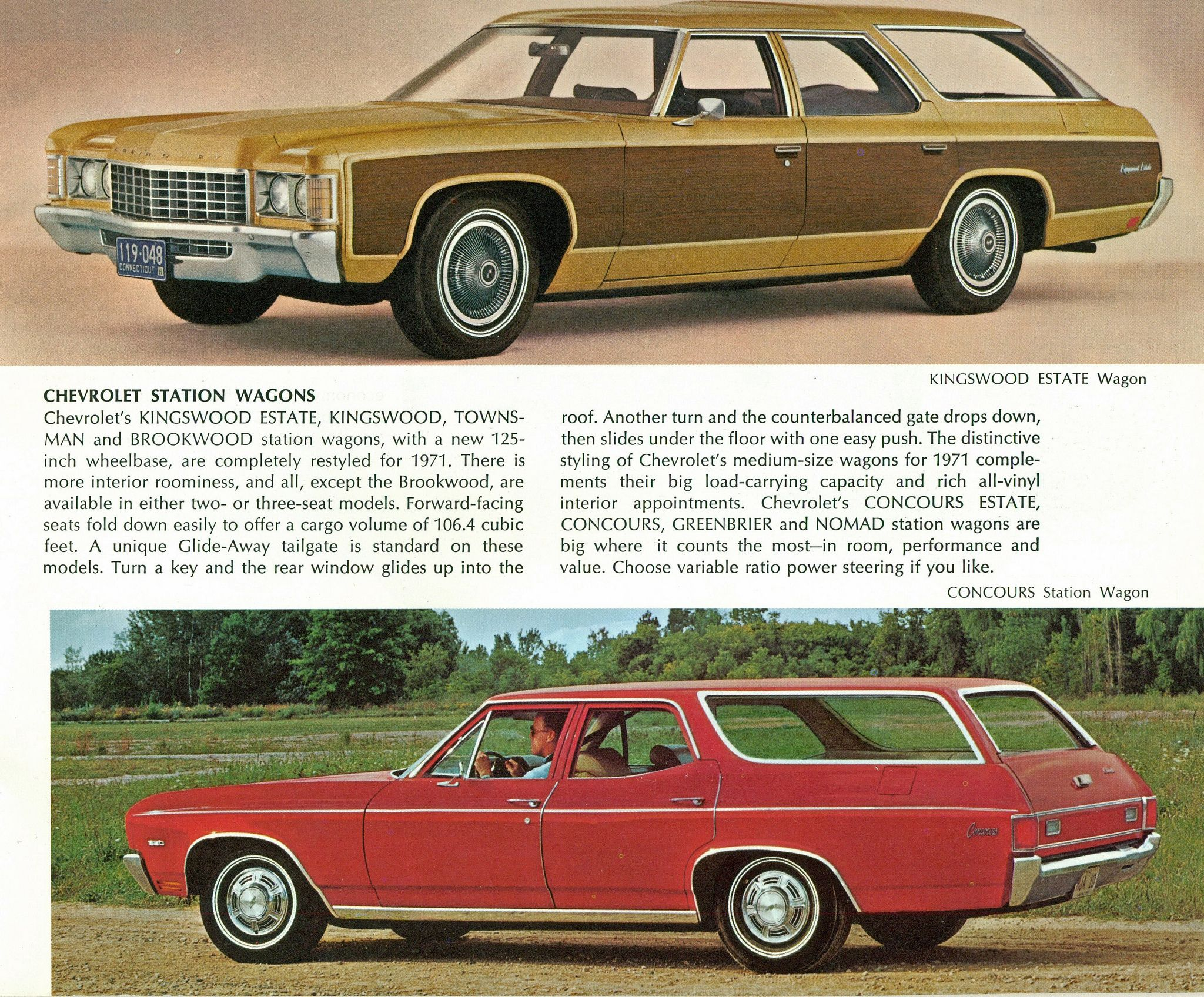 1971 Chevrolet Kingswood Estate And 1970 Chevelle Malibu Concours Station Wagon Station Wagon Chevrolet Wagons