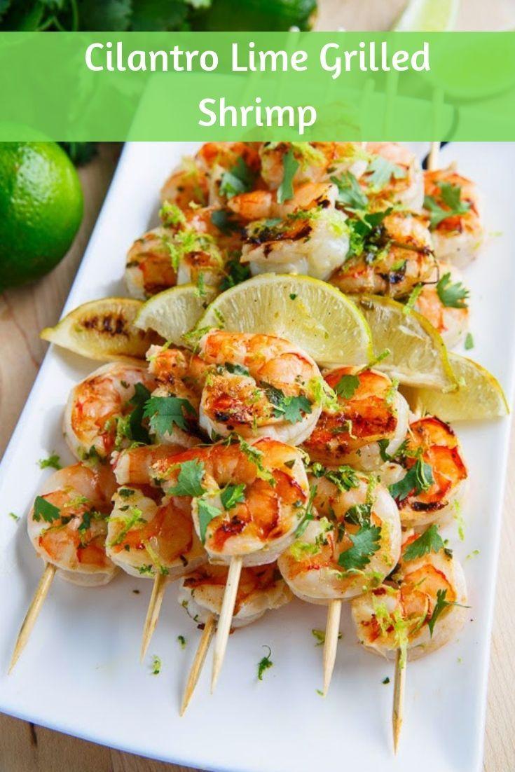 Cilantro Lime Grilled Shrimp #grilledshrimp
