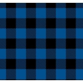 Black Royal Blue Buffalo Plaid Flannel Fabric Buffalo Plaid